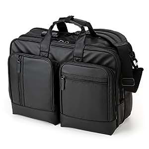 サンワダイレクト 3WAYビジネスバッグ 耐水素材 大容量 25L 通勤 2~3日出張対応 A4書類収納 200-BAG065WP