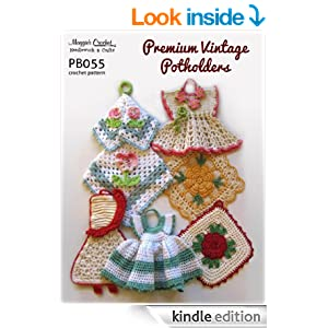 Crochet Patterns Amazon : Crochet Pattern Premium Vintage Potholders PB055-R - Kindle edition by ...