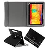 ACM ROTATING 360° LEATHER FLIP CASE FOR SAMSUNG GALAXY NOTE 10.1 P6010 TABLET STAND COVER HOLDER BLACK