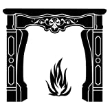 Lot 26 Studio Burnish Fireplace Vinyl Wall Decal, 16 X 48-Inches ~ Lot 26 Studio, Inc