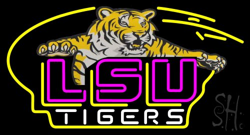 "Awesome LSU Tigers Logo NCAA Neon Sign 20"" Tall x 37"" Wide x 3"" Deep at Amazon.com"