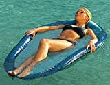 """66.5"""" Two-Tone Kelsyus Swimming Pool Spring Float Hammock Bed with Inflatable Pillow"""