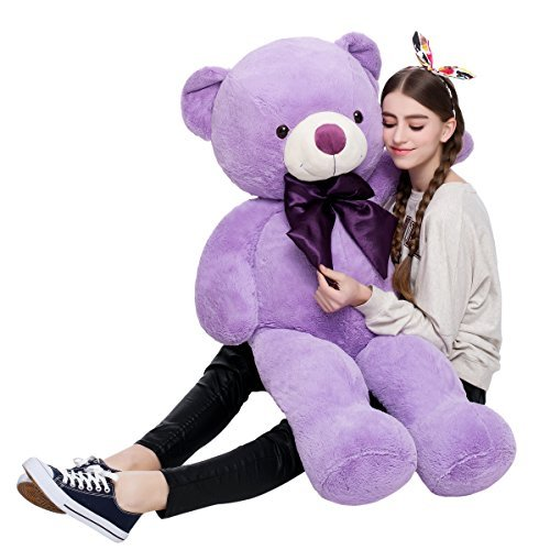 Misscindy Giant Teddy Bear Plush Stuffed Animals for Girlfriend or Kids 47 inch, (Purple) (Color: Purple)