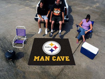 """Pittsburgh Steelers Man Cave Tailgater Rug 60""""x72"""""""