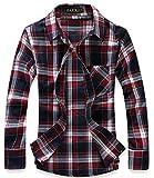 (ラロリオン)RAROLION ギンガムチェック ネルシャツ 長袖 メンズ(赤 紺 XXL)
