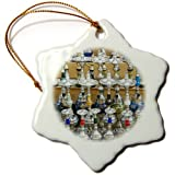 3dRose orn_71649_1 Market, Hookah Pipes in Sidewalk Shop, Luxor, Egypt AF14 AJE0223 Adam Jones Snowflake Porcelain Ornament, 3-Inch