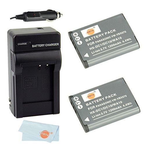Dste® Kit 2Pcs Vw-Vbx070 Rechargeable Li-Ion Battery + Charger Dc89 For Panasonic Hm-Ta2, Hm-Ta20, Hx-Dc1, Hx-Dc10, Hx-Dc10Eb-K, Hx-Dc10Ef-K, Hx-Dc10Gk, Hx-Dc15, Hx-Dc1Eb-H, Hx-Dc1Eb-K, Hx-Dc1Eb-R, Hx-Dc1Eb-W, Hx-Dc1Ef-H, Hx-Dc1Eg-H, Hx-Dc1Eg-P, Hx-Dc1Gk,