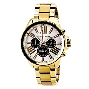 Michael Kors Oversize Golden Stainless Steel Wren Chronograph Women's watch #MK5838