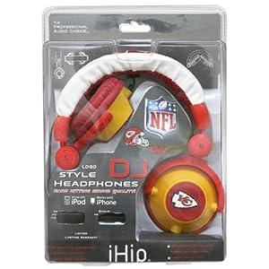 NFL Kansas City Chiefs Team Logo DJ Headphone by Zeikos