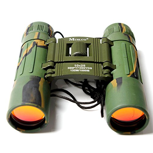 Boriyuan Green Camouflage Style Cool Pocket-Size 10X25 132M/1000M Outdoor Sports Hunting Binoculars Telescopes