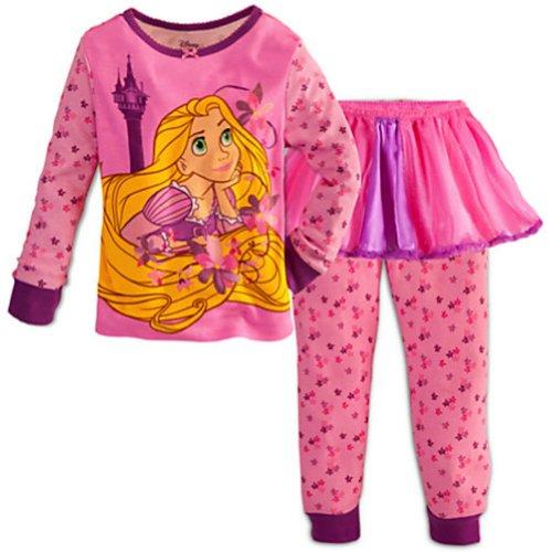 Rapunzel Tangled Tutu Set 3 Pieces Nightgown Nightshirt front-94577