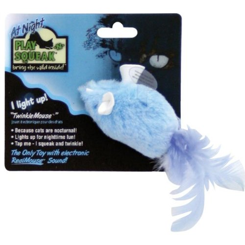 Buy Play-N-Squeak at Night TwinkleMouse Squeaking/Light-Up Cat Toy