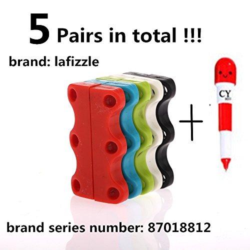 5 ACCOPPIAMENTI 5 Colore magnetica scarpe Chiusure - Mai Tie Laces Again! Dimensione adulta 1 anno di garanzia + Cindison regalo