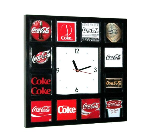Coke Coca-Cola soda pop sign vintage logo history Clock