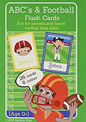 Ab Cs & Football Flash Cards Teach Your Child The Alphabet, Colors, And Football Using Eco Friendly High Quality Flash Cards