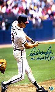 Dale Murphy Autographed Signed Atlanta Braves 8x10 Photo 82, 83 MVP