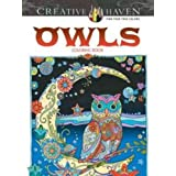 Libro Para Colorear Creative Haven Owls, pasta suave