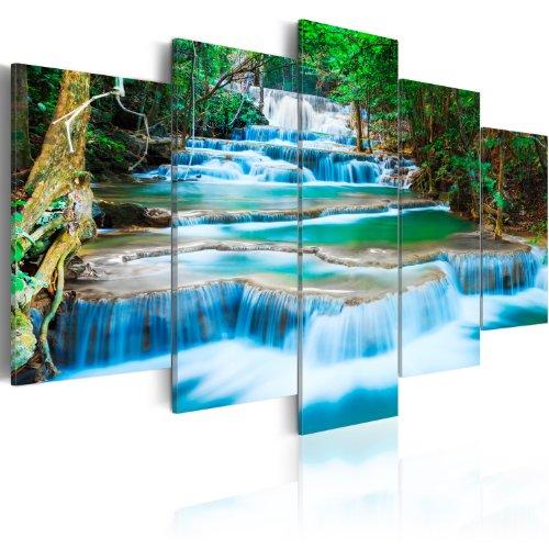 Quadro 200x100 cm - 5 Parti - Quadro su tela fliselina - Stampa in qualita fotografica ᅵ natura 030212-101 200x100 cm B&D XXL