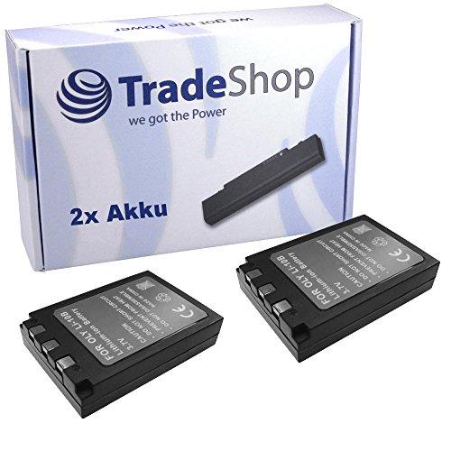 2x Hochleistungs Kamera Li-Ion Akku für OLYMPUS ZOOM X3 X500 irobe IR500 Stylus 410 Digital µ410 300 400 µ30 410 u410 C50 500 Stylus Verve 800 Mju Digital 80 µ 800 Stylus 600 DIGITAL µ DIGITAL 600