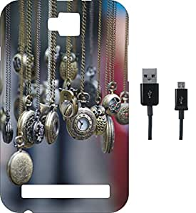 BKDT Marketing Printed Soft Back Cover Combo for Micromax Bolt Q324 With Charging Cable