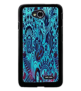 PrintDhaba Pattern D-2833 Back Case Cover for LG L70 (Multi-Coloured)