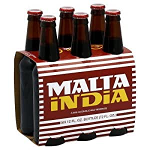 Amazon.com : Malta India 12 Fl. Oz Bottles - 6 Pack : Soda Soft Drinks