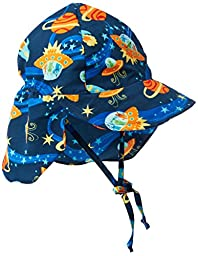 i play. Baby Boys\' Classics Flap Sun Protection Hat, Navy, Newborn/0 6 Months