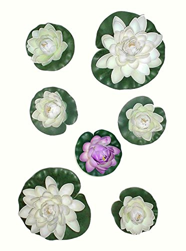 6-x-water-lilies-artificial-pond-plants