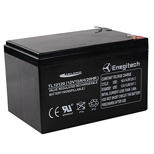 Enegitech 12V 12Ah 20 HR Sealed Lead Acid SLA Battery for Peg Perego Gator Polaris Gaucho Hummer (Hummer Helper compare prices)