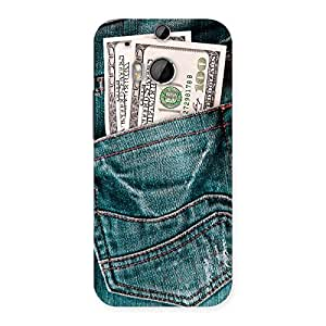 Delighted Full Dollar Jeans Back Case Cover for HTC One M8