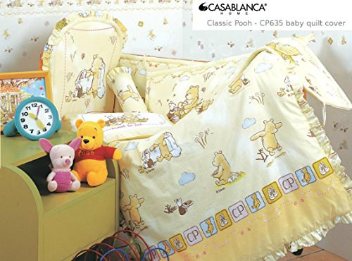 "Disney Classic Winnie The Pooh Cp635 Baby Quilt Cover (35"" X 48"") (330 Threads / 10Cm Squared) 100% Cotton front-946709"