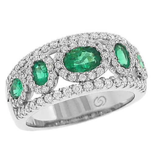 emerald and engagement rings green emerald