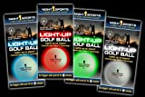 Night Sports LED Golf Ball 4-pack Red, Blue, Green White
