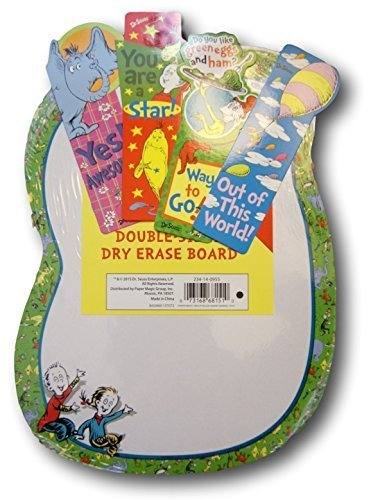 Dr. Seuss School Supplies Set - Dry Erase Board & Book Marks