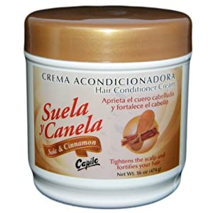 Suela y Canela (Sole and Cinnamon) Hair Conditioning Cream 16oz