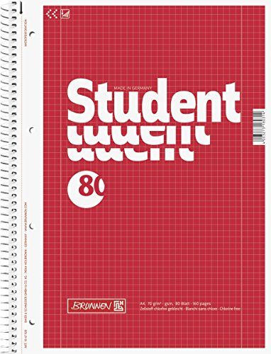 brunnen-1067928-notizblock-collegeblock-student-a4-kariert-lineatur-28-70g-m-80-blatt