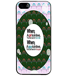 PrintDhaba Quote D-4455 Back Case Cover for APPLE IPHONE 4S (Multi-Coloured)