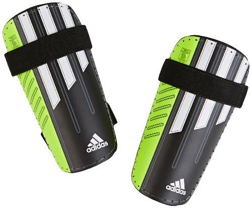 Adidas 11 Lite - Proteggi-tibia taglia M, colore: Nero/ Solsli (Solar Slime)/ Bianco