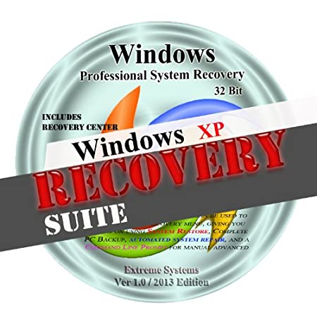 Windows Advanced XP System Recovery disk Live Boot CD 32 bit DVD. (disc is comparable with Home Basic, Home Premium, Business, and Ultimate)