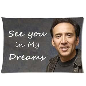 Custom Nicolas Cage Pillowcase Standard Size Design Cotton Pillow Case P-170