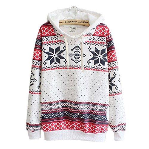 Christmas Snowflake Hoodie Sweatshirt , Luweki Women Jumper Sweater Hooded Pullover (M, snowflake)