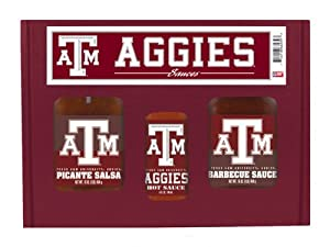 Texas Am Aggies Ncaa Tailgate Kit 5oz Hot Sauce 16oz Bbq Sauce 16oz Picante Salsa from Hot Sauce Harrys
