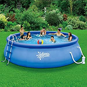 Summer Escapes Above Ground Family Swimming Pool 16 39 X 42 Quick Set Toys Games