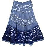 "TLB - Cove Blue Tie Dye Skirt - Length: 40""; Waist: 24""-34"""