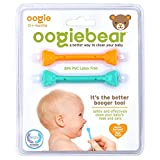 oogiebear - The Safe Baby Nasal Booger and Ear Cleaner; Baby Shower Gift and Registry Essential Snot Removal Tool - 2 Count - Orange and Seafoam (Color: Orange and Seafoam, Tamaño: 2 Count)