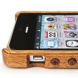iPhone 5ケースカバー(木製:高級木マホガニー)無料修理保証有り