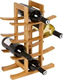 Wine Rack - Holds 12 Bottles Made From Natural Bamboo By Trademark Innovations