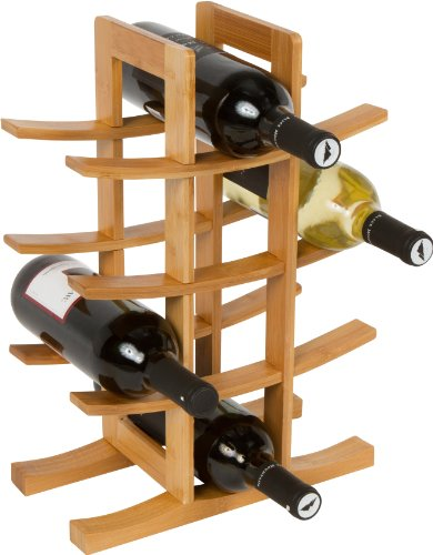 Trademark Innovations 12-Bottle Wine Rack front-597876