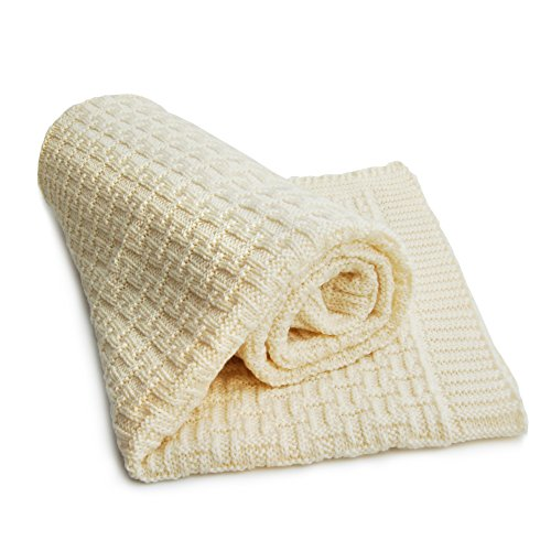 SonnenStrick 100% Organic Merino Wool Baby Blanket Made in Germany (31.5 x 35.5 inch) - 1