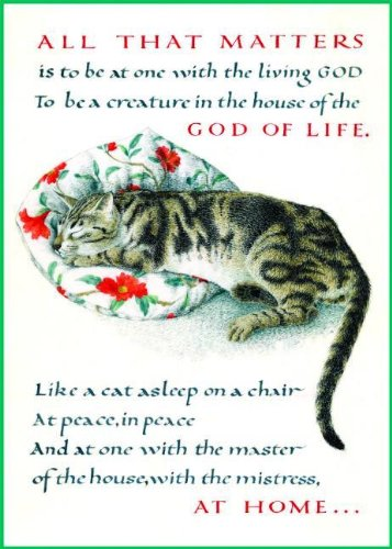 Marie Angel Cat Inspirational Greeting Card